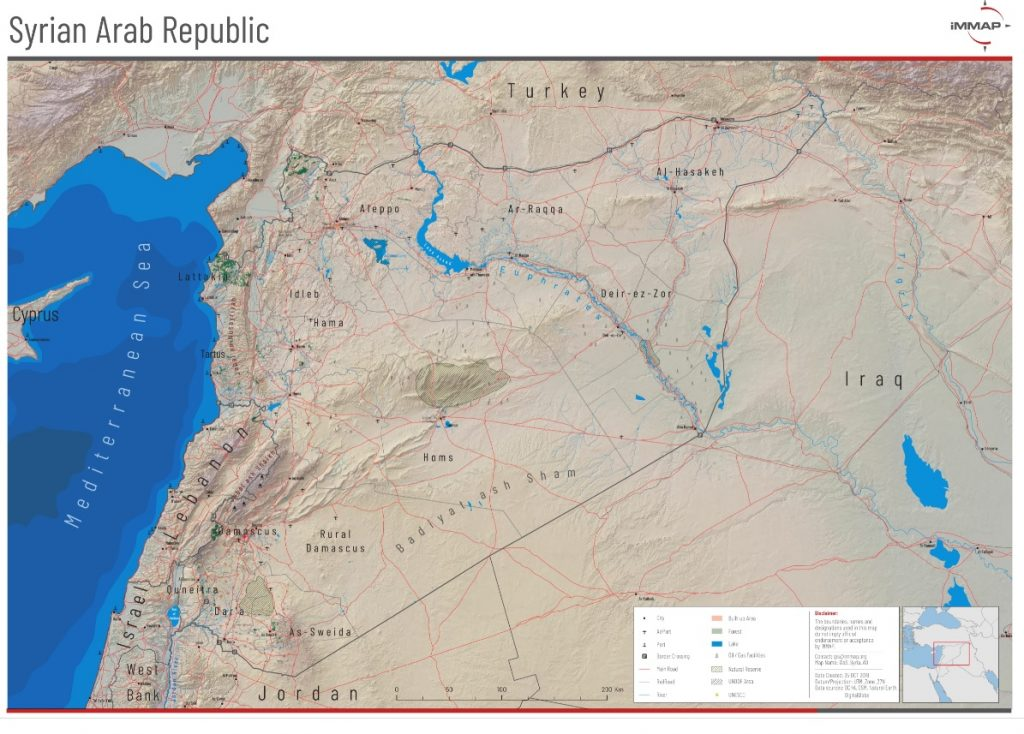 Syria Topographic Map Immap